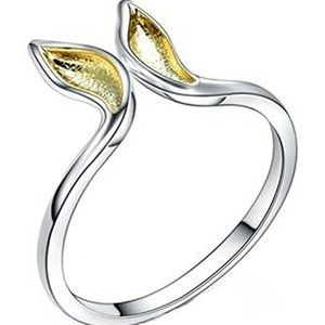 Sterling silver 14k gold bunny ears ring playboy